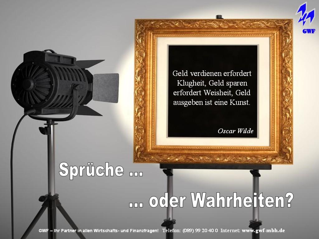 Geldzitat Des Tages Von Oscar Wilde